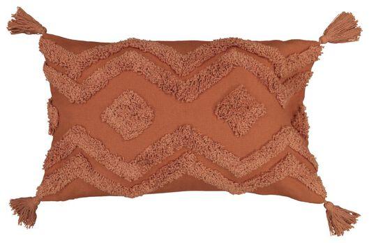 Kissenbezug, 30 x 50 cm, Quasten, terrakotta - 7322006 - HEMA