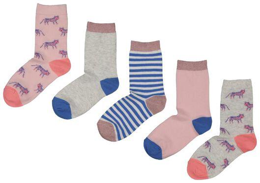 5-pack children's socks multi multi - 1000018022 - hema