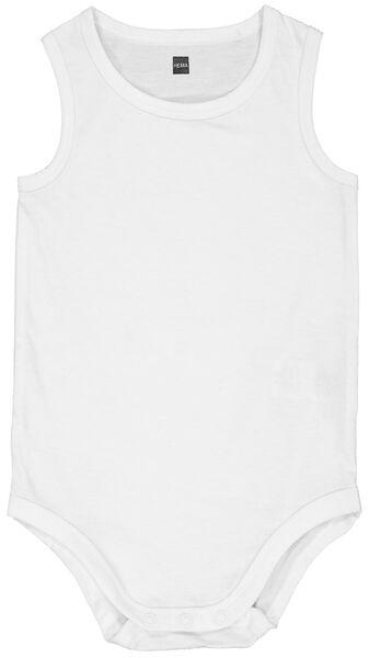 Baby-Bodys, elastische Biobaumwolle weiß weiß - 1000024201 - HEMA