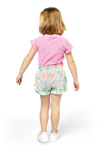 children's T-shirt ribbed pink pink - 1000019045 - hema
