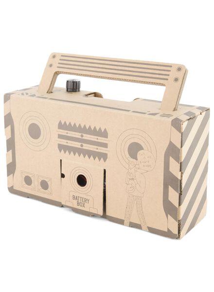 Boombox aus Pappe, 9 x 29 x 15,5 cm - 60310015 - HEMA