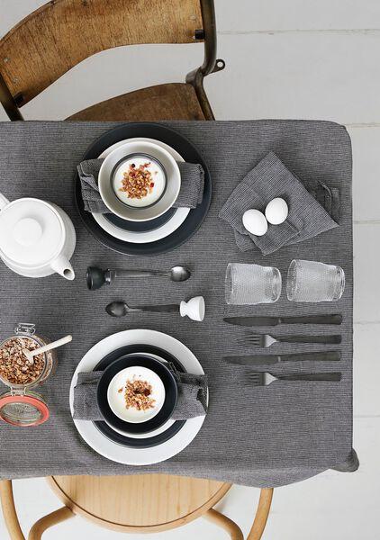 assiette creuse - 21 cm - Amsterdam - gris mat - 9602008 - HEMA