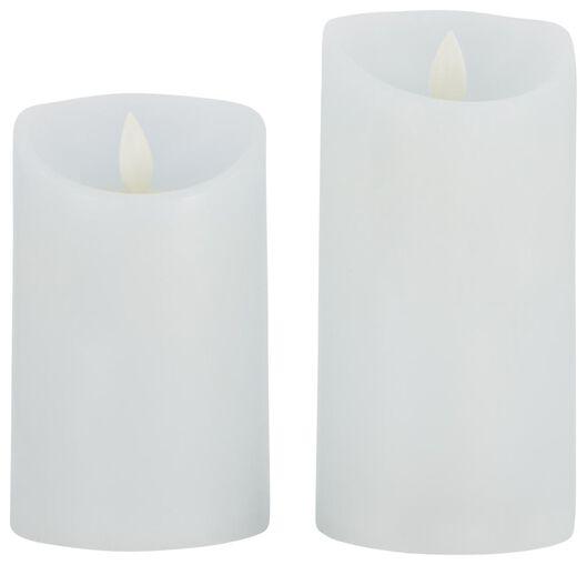 2 bougies LED blanc bleu - 41810287 - HEMA