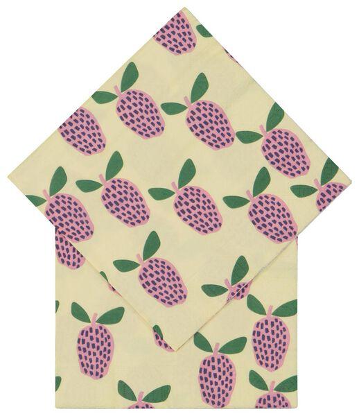 20 serviettes 33x33 papier fruits - 14200461 - HEMA