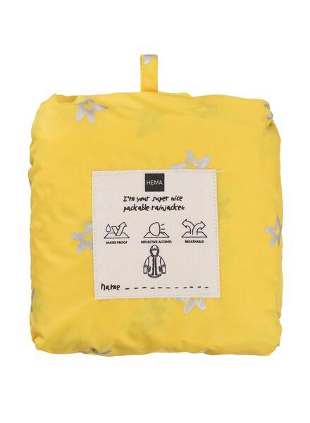 Kinder-Regenjacke, faltbar gelb 110-116 - 34490052 - HEMA