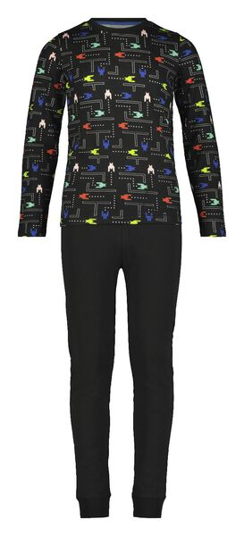Kinder-Pyjama, Arkadenspiel schwarz schwarz - 1000020657 - HEMA