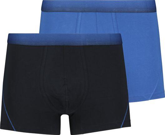 HEMA 2er-Pack Herren-Boxershorts, Kurz, Real Lasting Cotton Blau