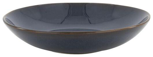 assiette creuse 21 cm - Porto émail réactif - bleu foncé - 9602218 - HEMA