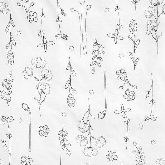 Bettwäsche, recycelte Baumwolle, Blumen weiß weiß - 1000022808 - HEMA