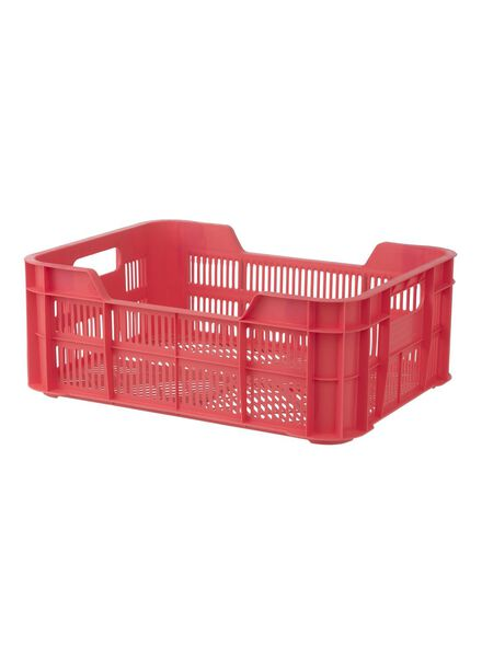 storage crate 41 x 31 x 15 cm - coral red - 39891033 - hema
