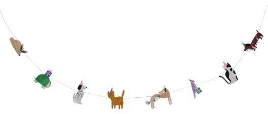guirlande 2.5m animaux en fête - 14200387 - HEMA