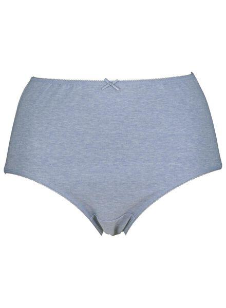 3-pack women's briefs high-waist cotton dark blue dark blue - 1000014542 - hema