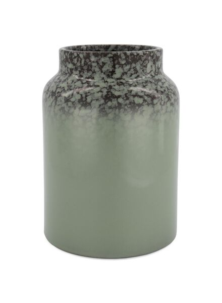 vase Ø 26 cm - vernis réactif - vert - 13392046 - HEMA