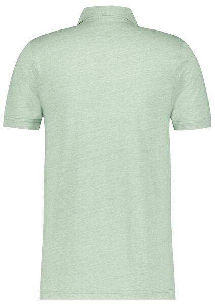 herenpolo jersey groen groen - 1000023563 - HEMA