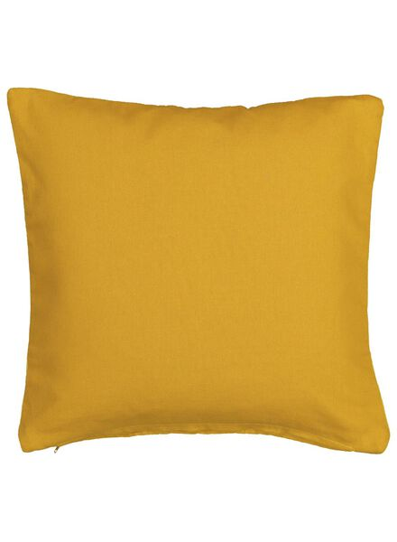 housse de coussin - 40x40 - velours - jaune ocre - 7392035 - HEMA