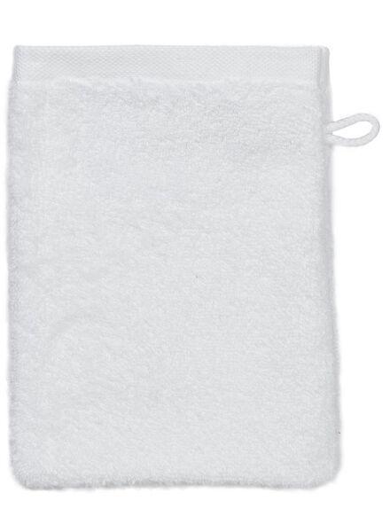 gant de toilette - hôtel extra doux - blanc uni - 5237001 - HEMA