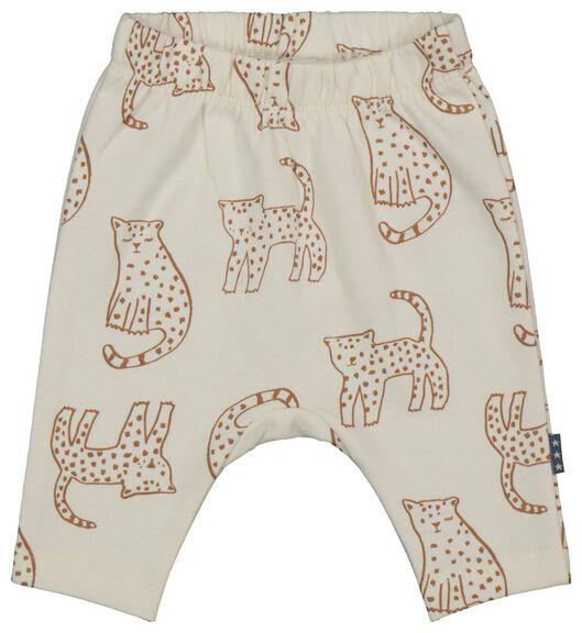 Babyhosen - HEMA Newborn Hose, Leoparden Eierschalenfarben - Onlineshop HEMA