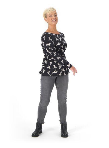 t-shirt femme noir noir - 1000015674 - HEMA