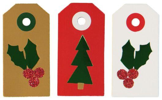12 étiquettes cadeau 6x3 - 25300023 - HEMA
