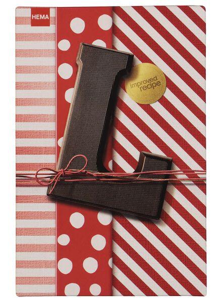 lettre en chocolat noir noir - 1000016870 - HEMA