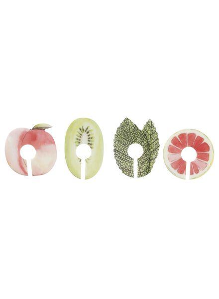 4 marqueurs de verres - 60020015 - HEMA