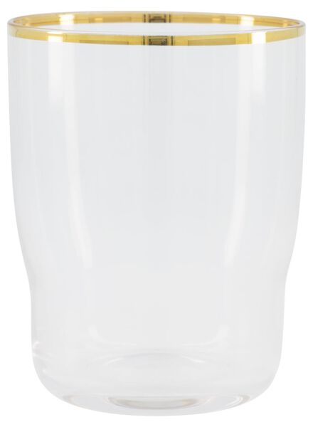 water glass Bergen gold rim 200 ml - 9401048 - hema