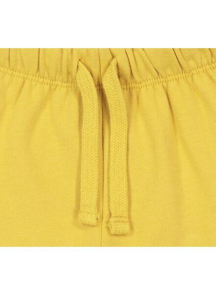 baby sweatpants yellow yellow - 1000017339 - hema