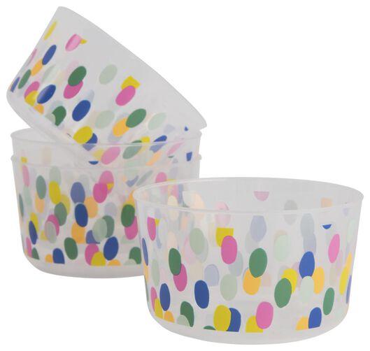 plastic bakjes herbruikbaar - Ø11 cm - confetti - 4 stuks - 14200497 - HEMA