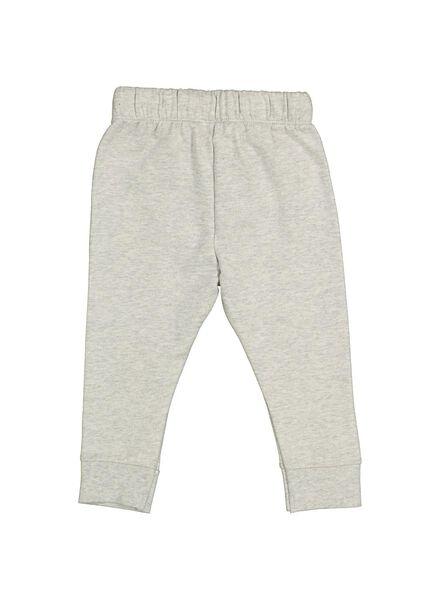 baby sweatbroek grijsmelange grijsmelange - 1000014709 - HEMA