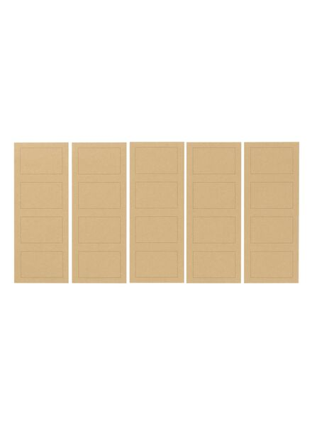 20er-Pack Etiketten - 14588133 - HEMA