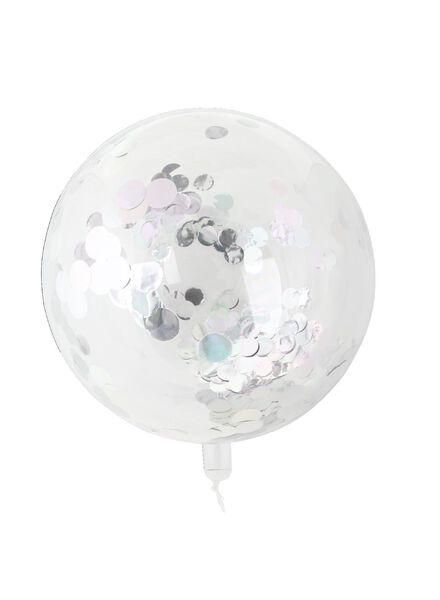 Folienballon mit Konfetti, 50 cm - 60800661 - HEMA