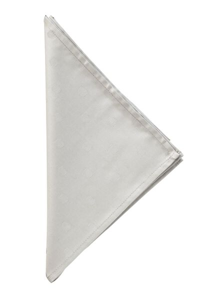 serviette coton 48 x 48 cm damassée pois - 5303784 - HEMA