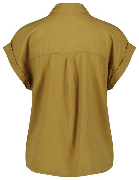 Damen-Bluse, Leinenmix gelb - 1000024330 - HEMA