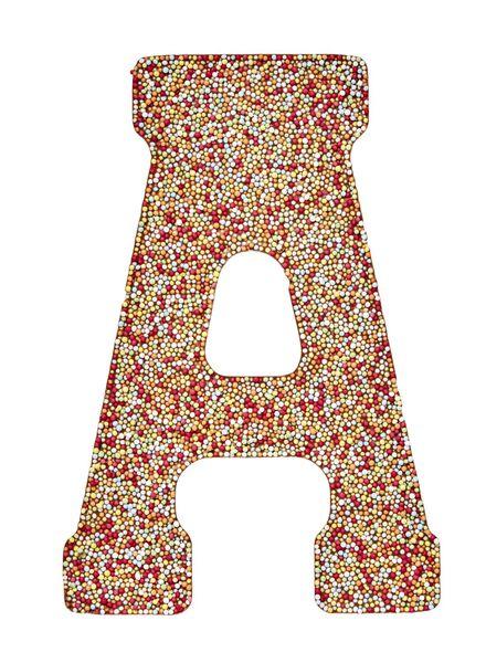 lettre en chocolat au lait avec garniture en granulés disco - 1000017373 - HEMA