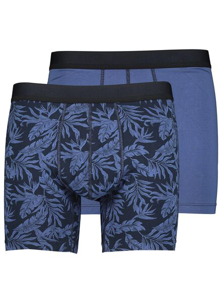 Image of HEMA 2-pack Men's Boxer Shorts Long RLC Blue (blue)