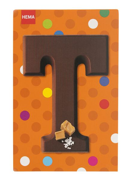 caramel sea salt milk chocolate letter T - 10039019 - hema