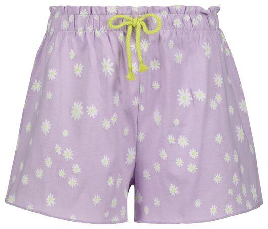 2er-Pack Kinder-Shorts lila lila - 1000024003 - HEMA