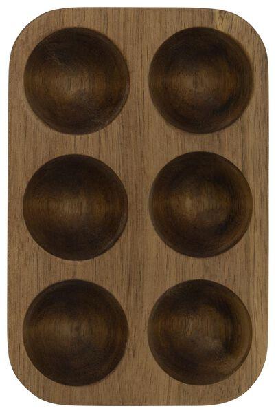 plateau à oeufs -10x15 - bois d'acacia - 80610203 - HEMA