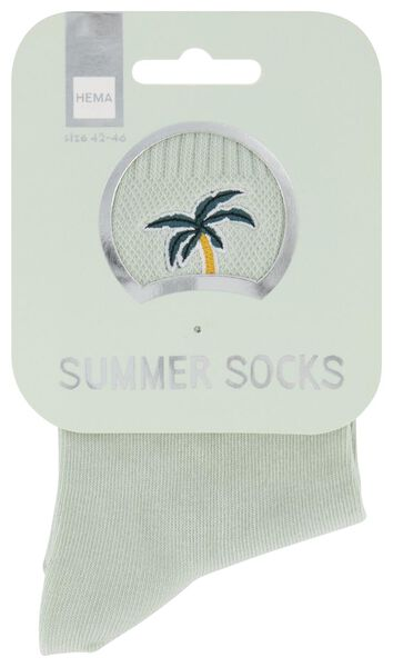 Socken, Größe 42-46, Summer, Palme, hellgrün - 61140091 - HEMA