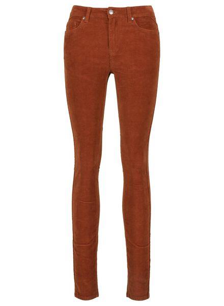Hosen für Frauen - HEMA Damen Cordhose, Skinny Braun  - Onlineshop HEMA