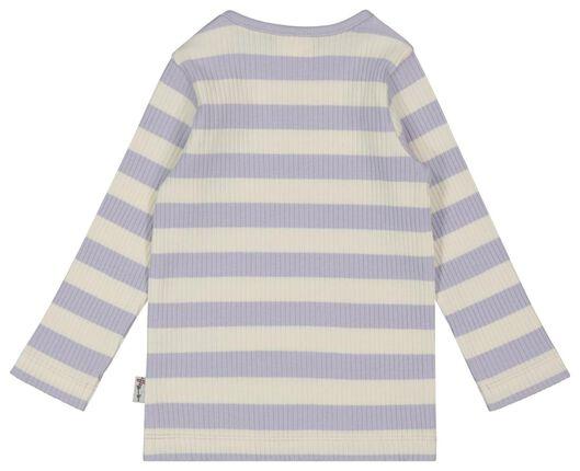 baby t-shirt rib lila lila - 1000022083 - HEMA