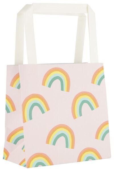 6 sacs à cadeaux 13x13x7 arc-en-ciel - 14700293 - HEMA