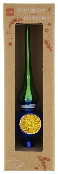 Baumspitze, Glas, 24 cm, blau-grün - 25103143 - HEMA