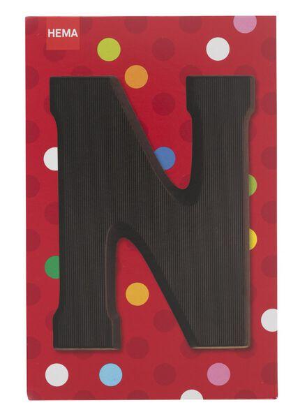 dark chocolate letter N - 10034012 - hema