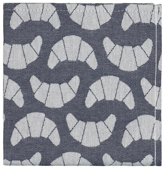 tea towel 65x65 cotton - blue croissant - 5400062 - hema