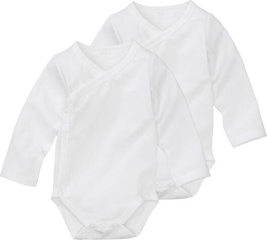 HEMA Überschlag-Bodys - Bio-Baumwollstretch - 2 Stück Weiß