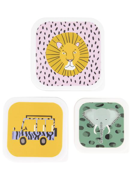 lot de 3 boîtes à snacks safari - 80610071 - HEMA
