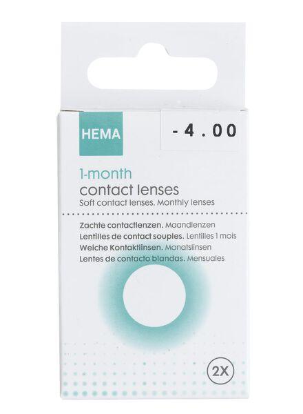 lentilles souples mensuelles, la paire – 4.00 - 11973142 - HEMA