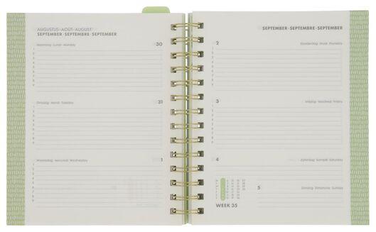 agenda scolaire avec pochette 21/22 jungle 19x17 - 14500542 - HEMA
