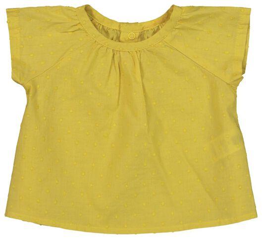 newborn set - tuniek en broek - biologisch katoen geel geel - 1000019825 - HEMA